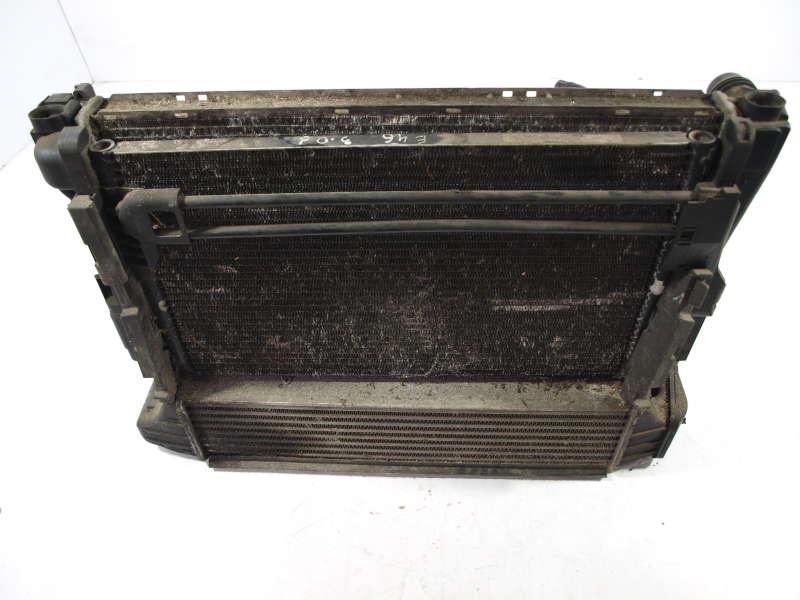 Радиатор воды, bmw 3 e46 (бмв), комплект радиаторов бмв 3 е46 3.0д 1990-2006, б/у, радиатор